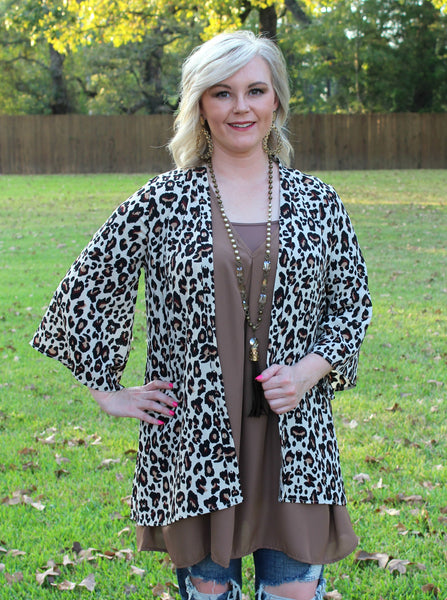 c1d9ec795f Spotted In The Crowd Leopard Print Kimono in Ivory – Giddy Up ...