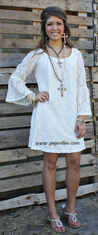 Lace The Facts Dress in Ivory