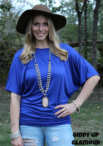 a3077a7d2bb5 The Simple Tunic Dolman Top in Royal Blue ...
