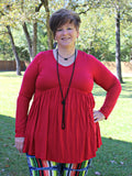 Valentines Day Tops Plus Size Red Missy