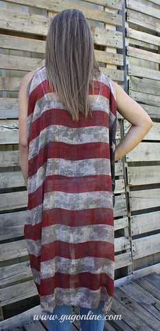 Fly High Distressed American Flag Vest