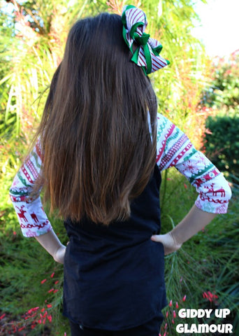 Kids Tis The Season Christmas Sleeve Baseball Burnout with Black Body