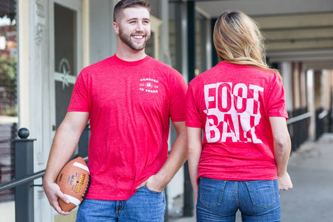 Football in Texas Short Sleeve Tee Shirt in Red