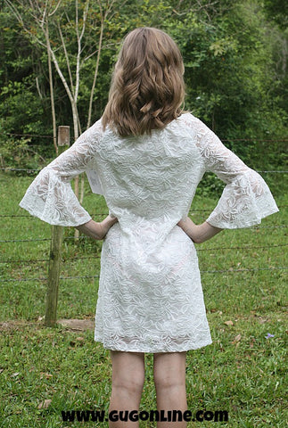 Children's Lace The Facts Dress in Ivory