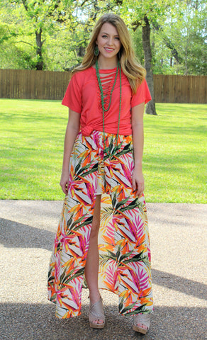 One in a Million Maxi Skort in Tropical Palm