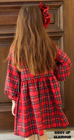 Kids How Merry Red Plaid Dress