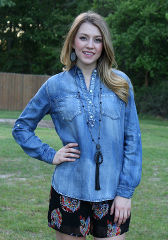 Naturally Trendy Denim Shirt