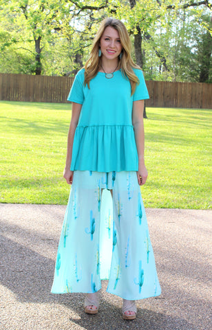 One in a Million Cactus Maxi Skort in Mint