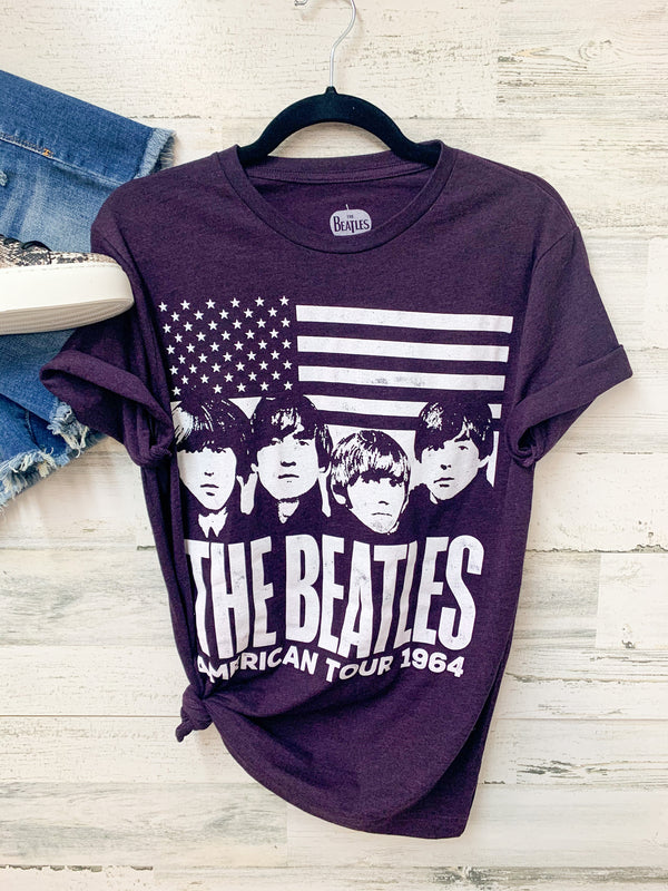 THE BEATLES | American Tour 1964 Graphic Tee in Purple