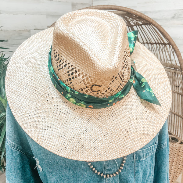 Charlie 1 Horse | Mojave Straw Hat with Cactus Band and Silver Concho