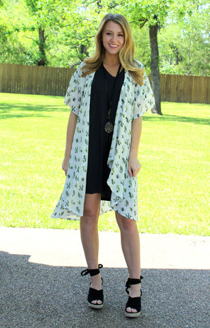 Happiest With You Cactus Kimono in Ivory