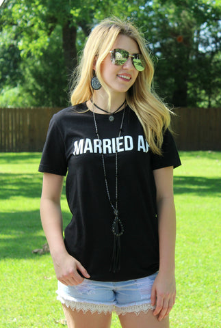Married AF Short Sleeve Black Tee Shirt