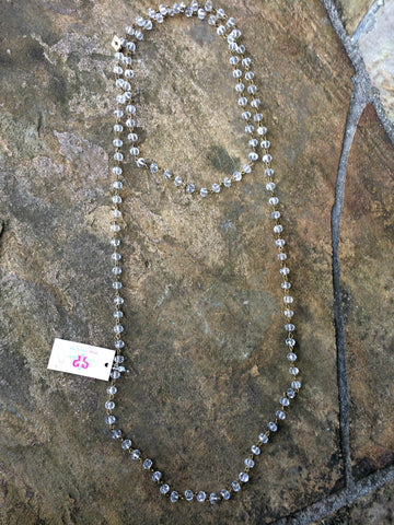 Pink Panache Long Crystal AB Layering Necklace - 46 Inch