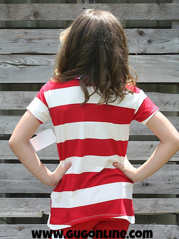 Children's Lady Liberty Polka Dot Pocket Tee