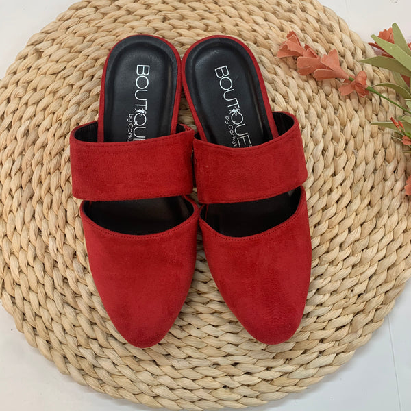 Corky's | Make the Scene Slide On Mules in Red