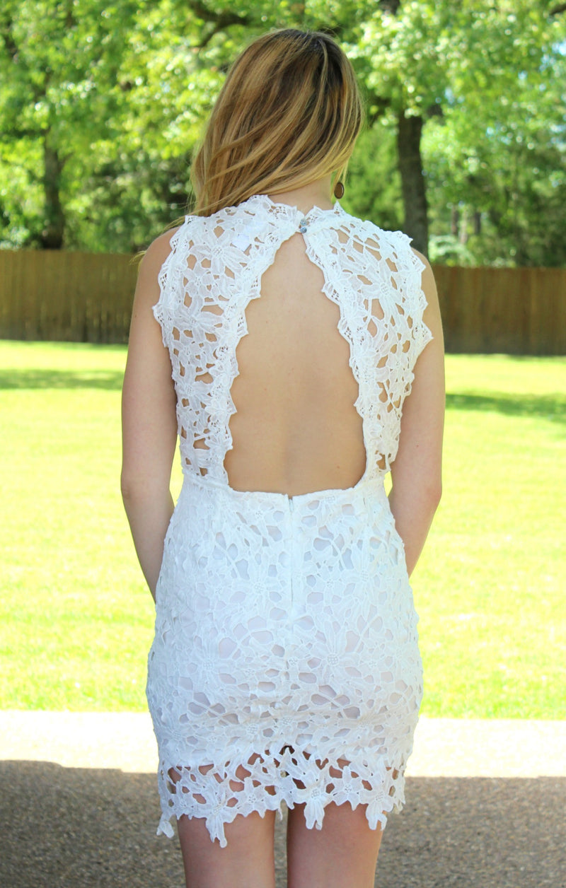 Cute Simple Dresses For Weddings, White Crochet Dresses