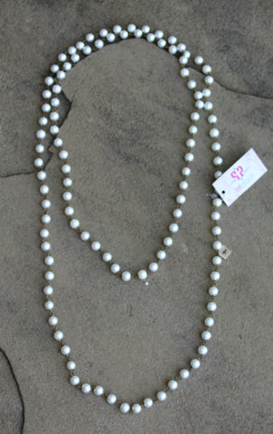 Pink Panache Long Pearl Layering Necklace - 38 Inch