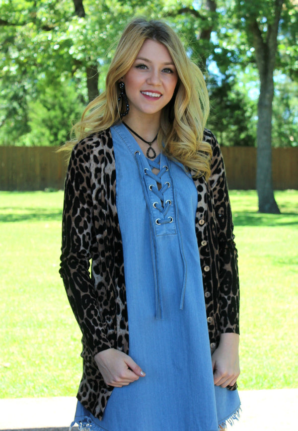 Gotta Have It Leopard Pocket Cardigan
