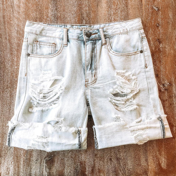 I'm Torn Destroyed Boyfriend Cut Off Shorts