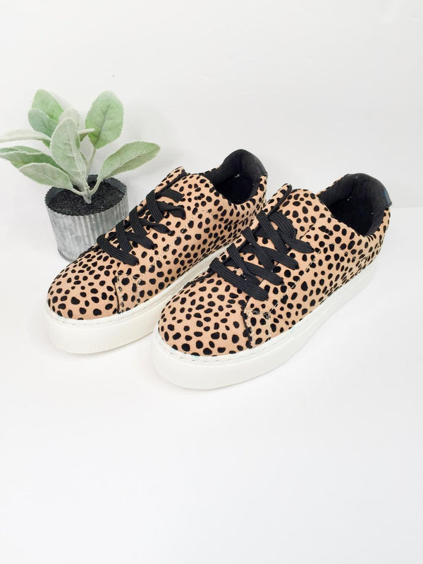 In the Lead Platform Sneaker in Leopard