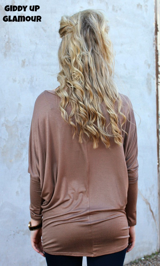 A Spot To Snuggle Mocha Slouchy Top- 3XL