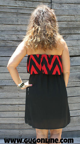 Kickoff Kutie Game Day Dress in Black and Red