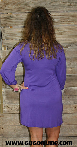 School Memories Gameday Dress in Purple and Gold