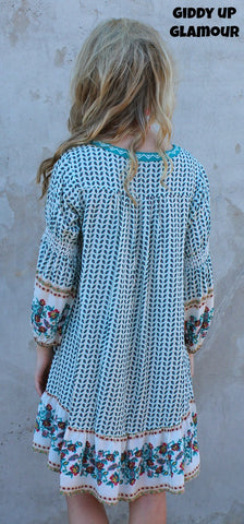 2157eaf066bef1 ... Make Your Mark Ivory Tunic Dress with Turquoise and Hot Pink Floral