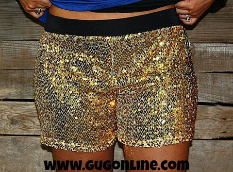 Good As Gold Sequin Shorts