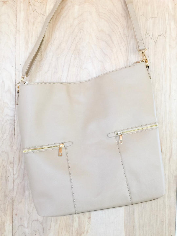 Make It Even Hobo Leather Bag in Nude