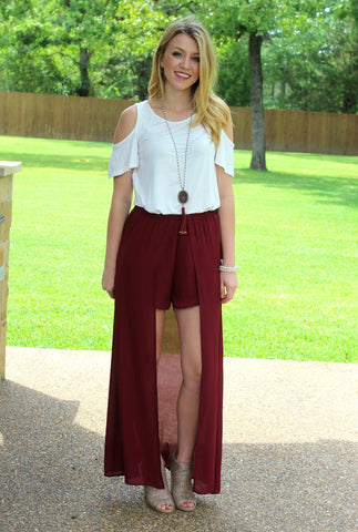 One in a Million Maxi Skirt in Maroon
