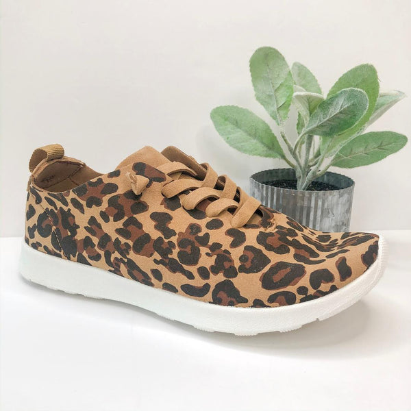 Every Mile Leopard Lace Up Sneakers