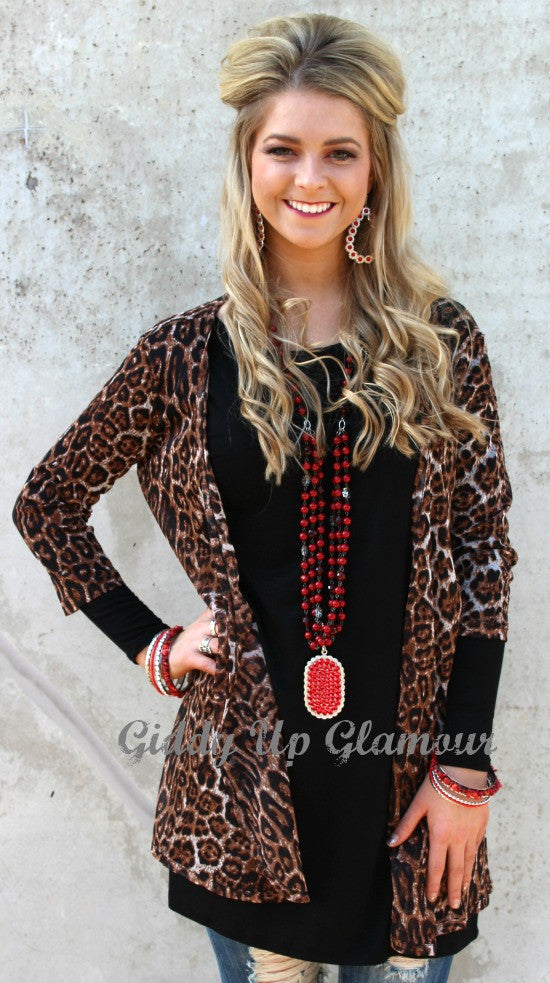 Every Little Thing Lightweight Leopard Cardigan Cover Up