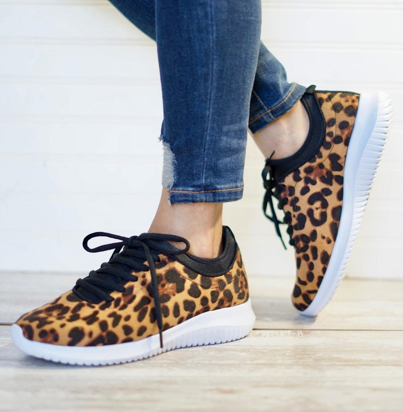 Leopard Print Sneakers – Giddy Up