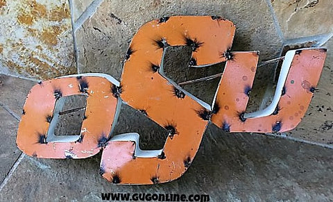 Rustic Metal 3D OSU Sign