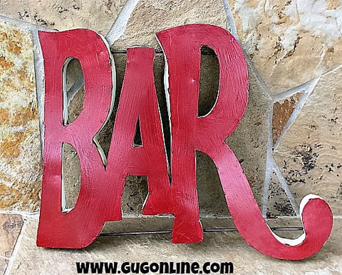 Rustic Metal 3D Bar Sign