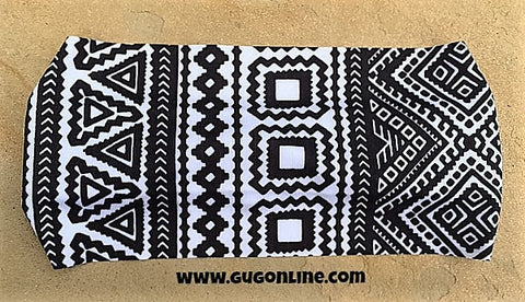 Sonora Black and White Aztec Headband