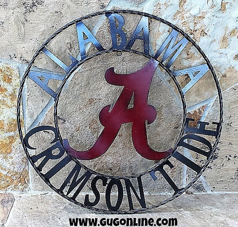 Alabama Crimson Tide Round Team Signs
