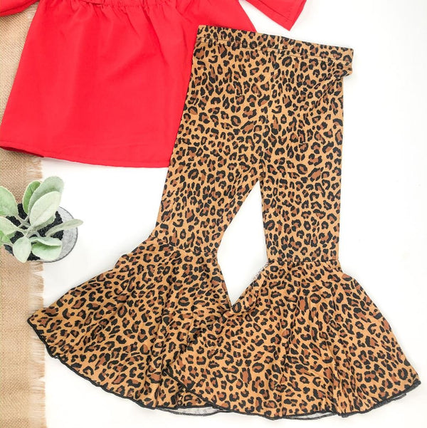 Children's | Act Wildly Flare Bell Bottom Pants in Leopard