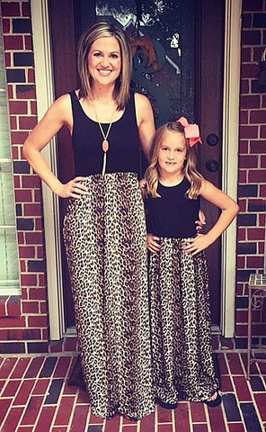 Children's: Mommy and Me Simply Irresistible Cheetah Maxi Dress