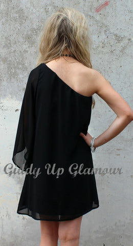 One Shoulder Wonder Dress in Black