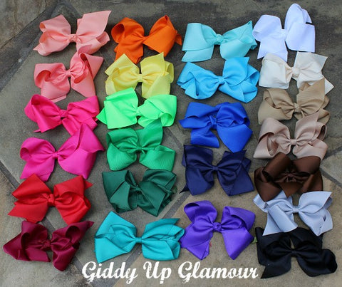 Solid Color Hairbows