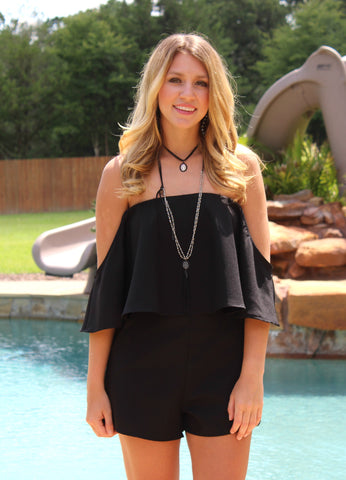 Everything You Wanted Black Romper