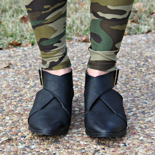 Buckle Short Ankle Booties Boots