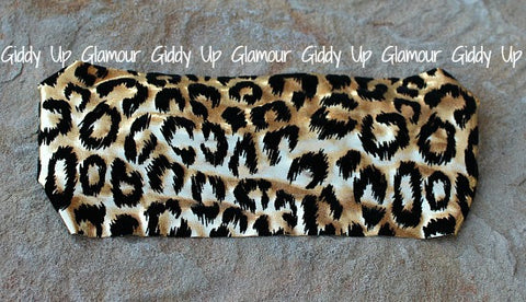 Oh La La Black and Gold Leopard Headband
