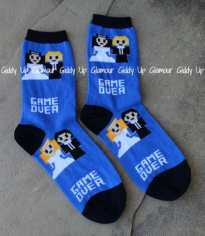 Game Over Wedding Socks