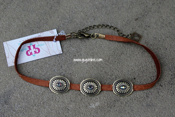 Pink Panache Leather Chokers Conchos