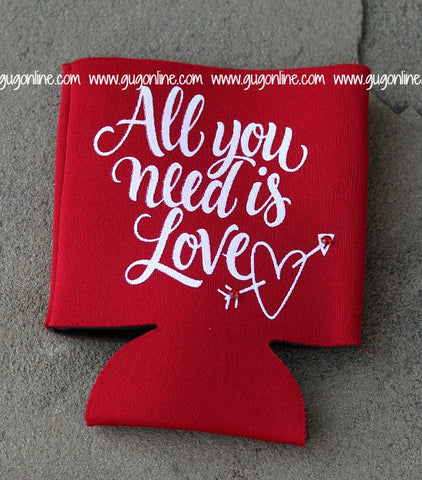 All You Need Is Love Red Koozie
