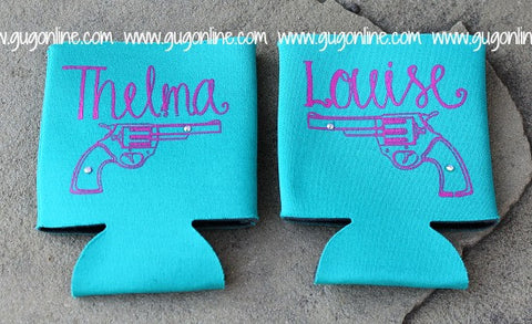 Turquoise Thelma and Louise Koozies