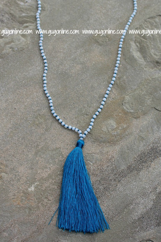 Tassel Necklaces Blue